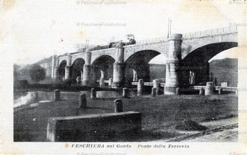 Archivio fotografico storico di peschiera del garda for Ponte sul davanti della casa